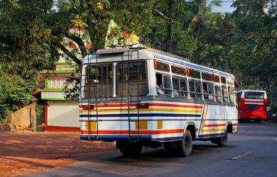 India tourist public bus