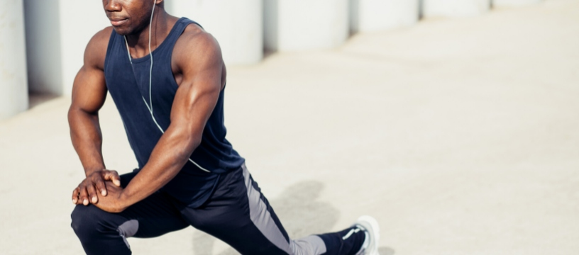 African American Male Exercising Outdoors