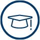 Navy University Hat Icon
