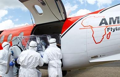 AMREF covid safe medical evacuation
